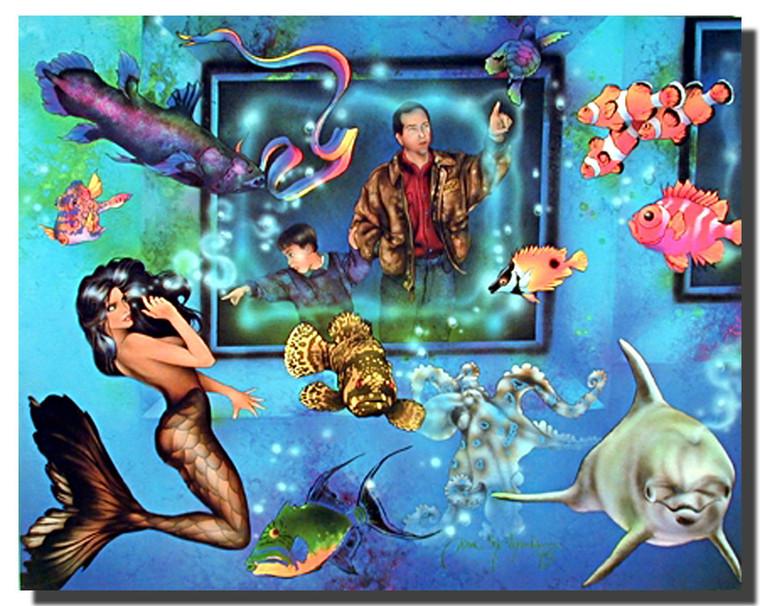 Aquarium Mermaid Posters