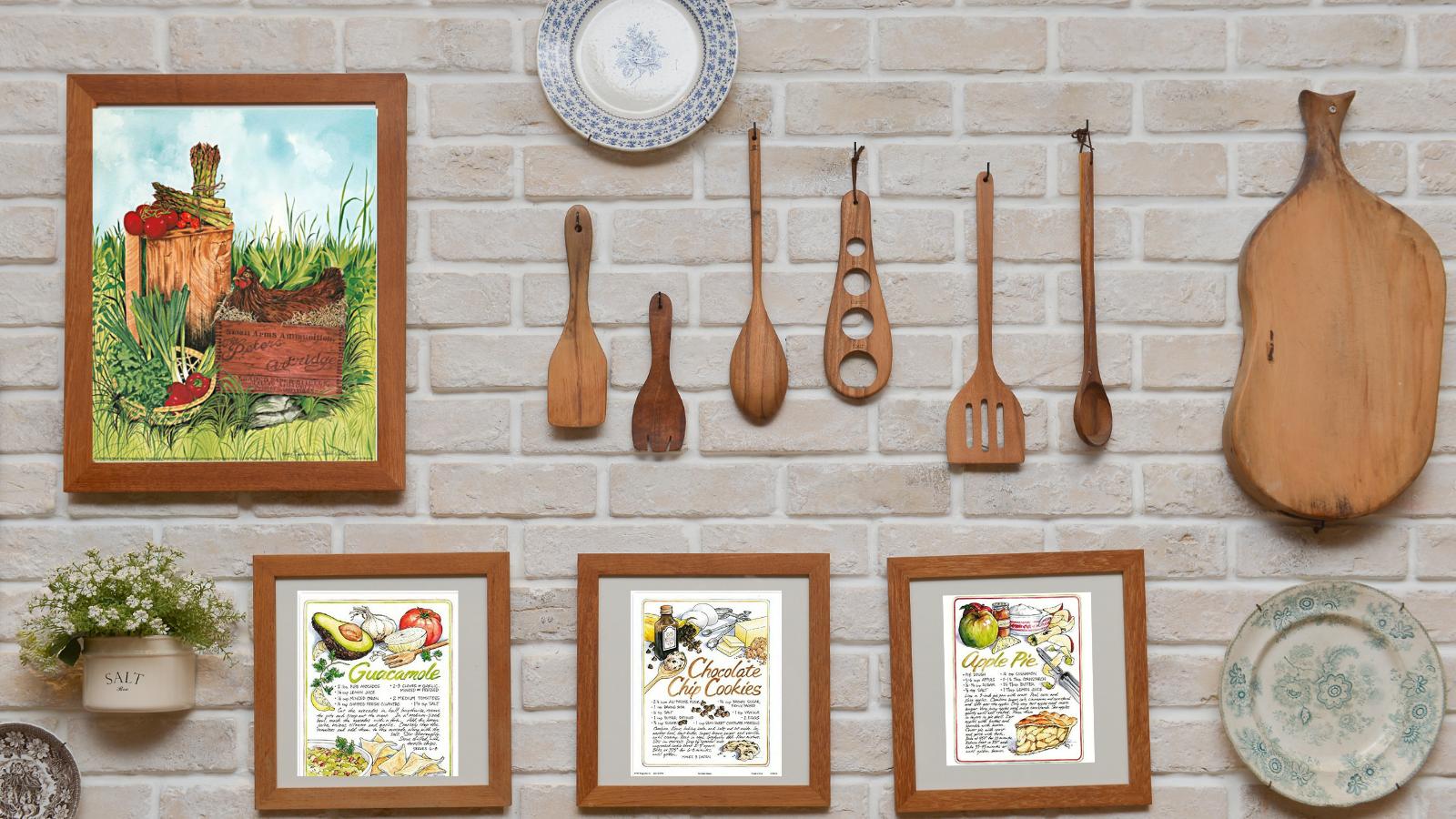 Kitchen decor, Kitchen poster, Recipe Posters