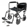 "Steel Transport Chair, 19"" Silver Vein (EJ796-1)"