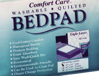 """Bedpad - 29"""" x 35"""" - Washable / Quilted - Reusable"""