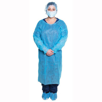 Isolation Gown, Non-Sterile, BLUE 10's (301BL)