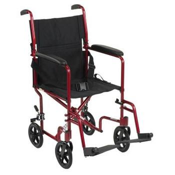 "Drive ATC19 Aluminum Transport Chair 19"""