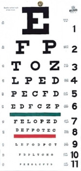 Snellen Hanging Eye Chart