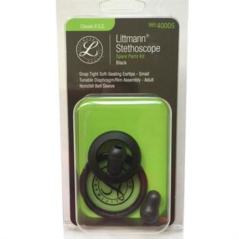 Littmann Stethoscope Spare Parts Kit, Classic II S.E., Black, 40005