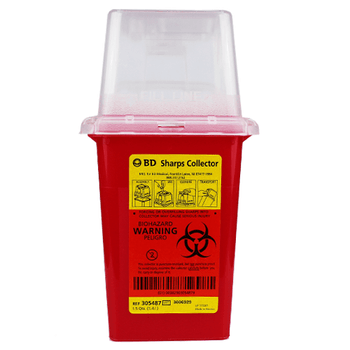 1.5 Quart Red BD Stackable Sharps Container