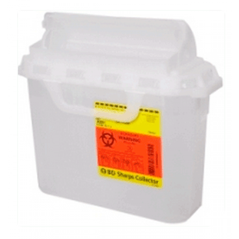 5.4 Quart Clear BD Sharps Container