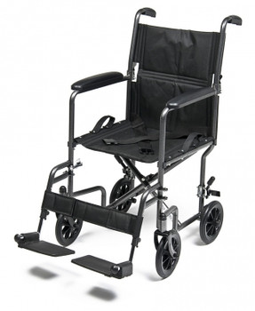 "Steel Transport Chair, 19"" Silver Vein"