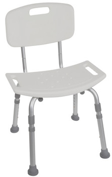 Drive Deluxe Aluminum Shower Chair W/ Back