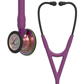 6205 Littmann Cardiology IV - Plum w/ Rainbow Finish
