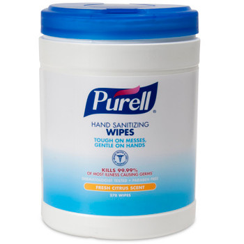 PURELL Hand Sanitizing Wipes, Fresh Citrus Scent, 270 Count Eco-Fit Canister (9113-06)