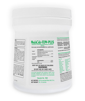 MadaCide-FDW-Plus, Disinfectant / Deodorizing Surface Wipes (7032)