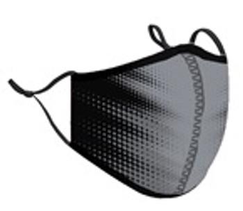 Black w/ Grey Blast Fashion Face Mask - One Size Fits Most (Grey Blast )