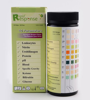 Rapid Response 10 Parameter Urinalysis Reagent Strip (U10.1-1S100)