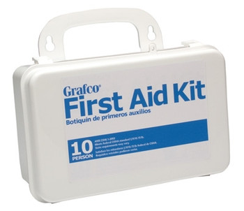 First Aid Kit, 10 Person, w/ Plastic Case (1799-10P)