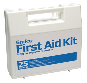 First Aid Kit, 25 Person, w/ Plastic Case (1799-25P)