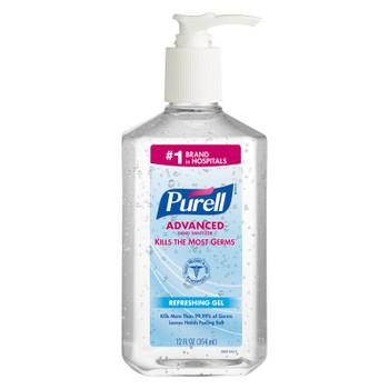 PURELL Advanced Hand Sanitizer Gel 12 fl oz Table Top Pump Bottle (3659-12)