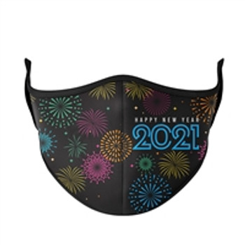 New Years Eve 2021 Fireworks Fashion Face Mask - One Size Fits Most (New Years 2021)
