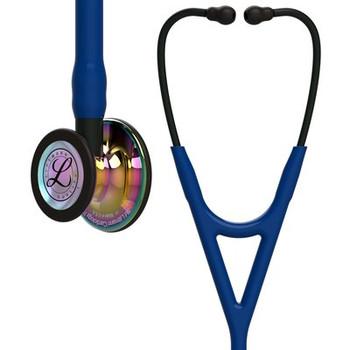6242 Littmann Cardiology IV - Navy w/ Rainbow & Black Stem