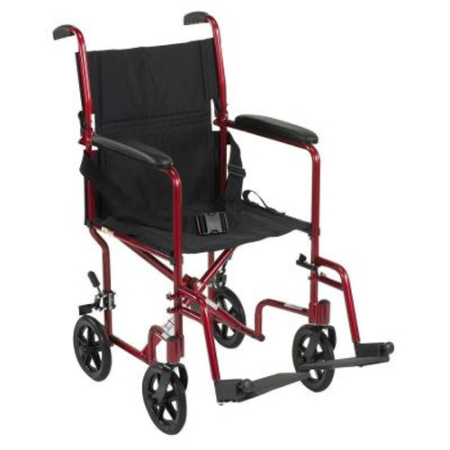Drive ATC19 Aluminum Transport Chair 19""