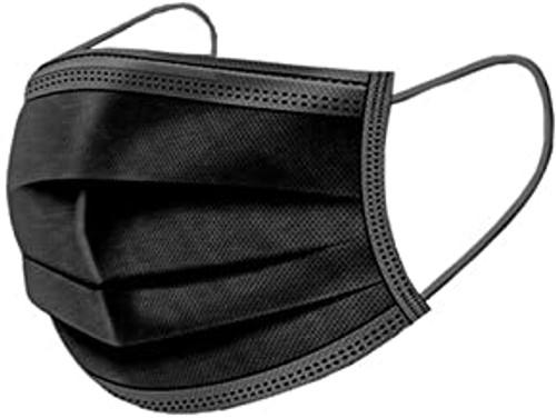 Ear Loop Face Mask, Black, 50/Box