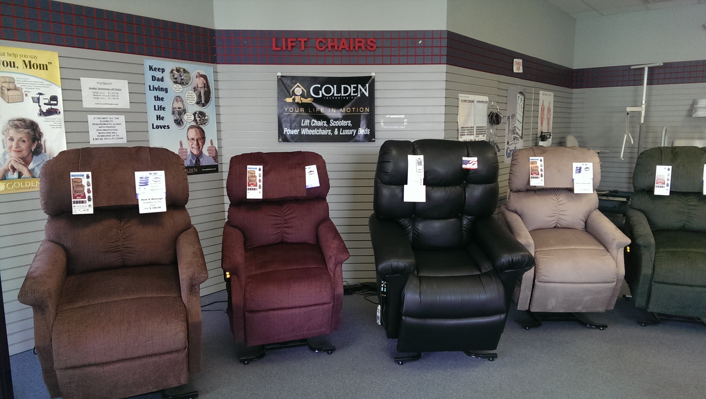 Lift Chairs by Golden Technologies