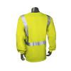 Radians FR Class 2 Hi Vis Green Made in USA Long Sleeve Shirt LHV-FR-TS-LS Back