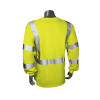 Radians FR Class 3 Hi Vis Green Long Sleeve Shirt LHV-FR-TS-LS-C3 Back