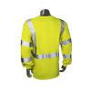 Radians FR Class 3 Hi Vis Green Made in USA Long Sleeve Shirt LHV-FR-TS-LS-C3 Back