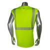 Radians Class 2 Hi Vis Green Moisture Wicking Sleeveless Made in USA T-Shirt LHV-UXTS-NSC2 Back