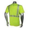 Radians Class 2 Hi Vis Green Moisture Wicking Made in USA T-Shirt LHV-UXTS-SSC2 Back