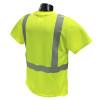 Radians Class 2 Hi Vis Lime Moisture Wicking T-Shirt LHV-XTS-AR-P Back