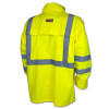 Radians Class 3 Hi Vis Green Lightweight Rain Jacket RW10-3S1Y Back