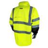 Radians Class 3 Hi Vis Green Black Bottom Rain Jacket RW30-3Z1Y Back