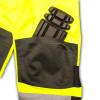 Radians Class E Hi Vis Yellow Black Bottom Rip Stop Bib Rain Pants RW32-EZ1Y Knee