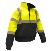 Radians Class 3 Hi Vis Green 2-in-1 Bomber Jacket SJ110B-3ZGS Front