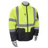 Radians Class 3 Hi Vis Quilted Reversible Jacket Zip-Off Sleeve SJ510-3ZGS