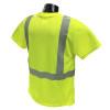 Radians Class 2 Hi Vis Green Moisture Wicking T-Shirt ST11-2PGS Back