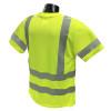 Radians Class 3 Hi Vis Moisture Wicking Mesh T-Shirt ST11-3PGS Lime Green
