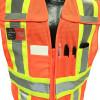 Radians Class 2 Hi Vis Mesh Breakaway Expandable Safety Vest SV24-2ZOM Orange Front Pockets