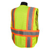 Radians Class 2 Hi Vis Mesh Breakaway Expandable Safety Vest SV24-2ZGM Yellow/Lime Back