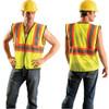 Occunomix Class 2 Hi Vis Two-Tone Economy Mesh Vest ECO-GC2T Front/Back