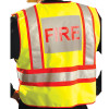 Occunomix Class 2 Hi Vis Yellow Pre Printed Fire Fighter Public Safety Vest LUX-PSF Back In Use