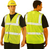 Occunomix Class 2 Hi Vis Mesh Safety Vest LUX-SSCOOLG Yellow Front/Back