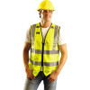 Occunomix Class 2 Hi Vis Yellow Surveyor Vest with ID Pocket LUX-SSFULLZ