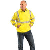 Occunomix FR Class 3 Hi Vis Yellow Hooded Sweatshirt LUX-SWT3FR In Use