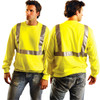 Occunomix Class 2 Hi Vis Yellow Crew Neck Sweatshirt LUX-SWTL Front/Back