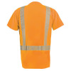 Occunomix Class 2 Hi Vis Short Sleeve T Shirt with Segmented Tape LUX-TSSP2B Orange Back