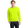 Gildan Enhanced Visibility Heavy Blend Crewneck Sweatshirt 18000 Safety Green/Front