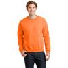 Gildan Enhanced Visibility Heavy Blend Crewneck Sweatshirt 18000 Safety Orange/Front