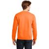 Gildan Enhanced Visibility Heavy Blend Crewneck Sweatshirt 18000 Safety Orange/Back